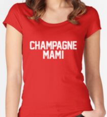 Champagne Mami [White] Women's Fitted Scoop T-Shirt