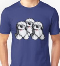 Cute Old English Sheepdogs Unisex T-Shirt