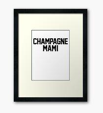 Champagne Mami [White] Framed Print