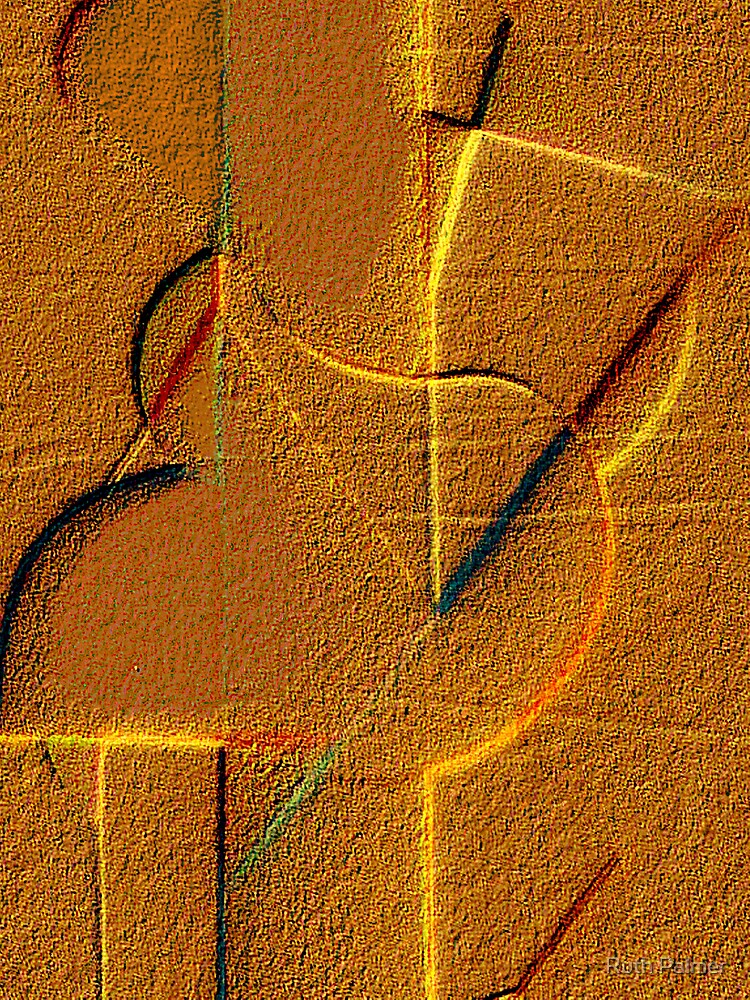 Abstract In The Sand by Ruth Palmer