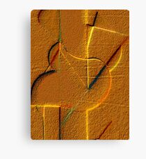 Abstract In The Sand Canvas Print