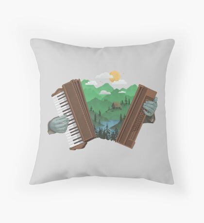 Accordionscape Throw Pillow
