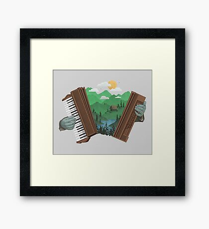 Accordionscape Framed Print