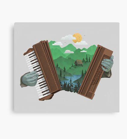 Accordionscape Canvas Print