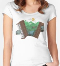 Accordionscape Women's Fitted Scoop T-Shirt