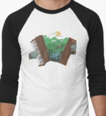 Accordionscape Men's Baseball ¾ T-Shirt