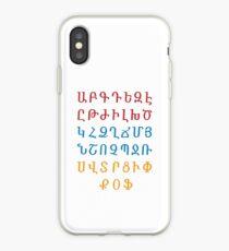 ARMENIAN ALPHABET - Red, Blue and Orange iPhone Case