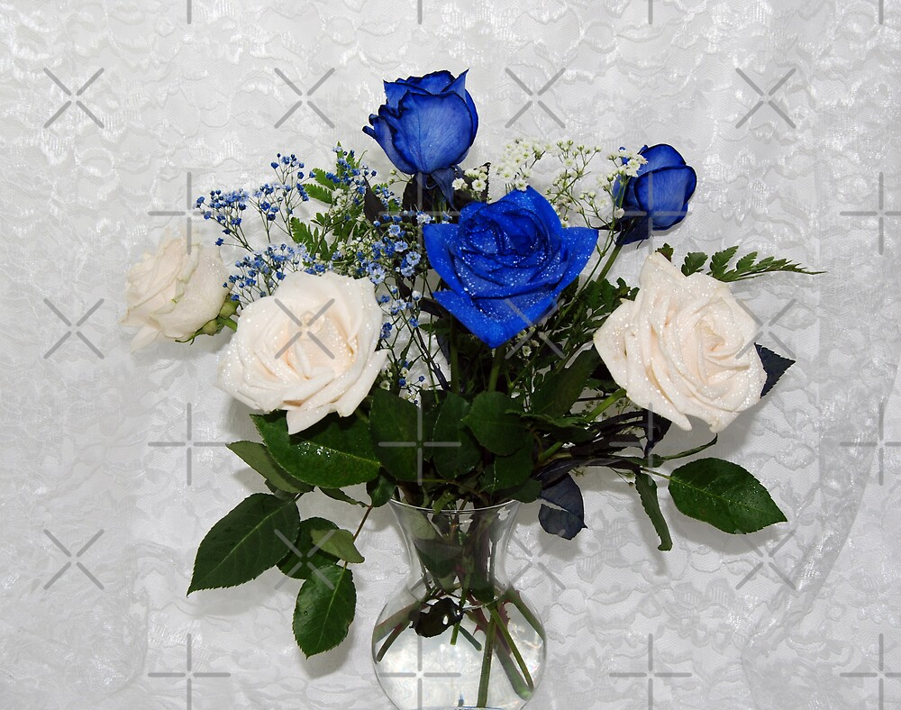 Blue and White Bouquet by Maria Dryfhout