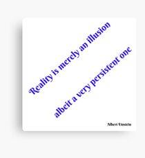 Einstein' Reality Canvas Print