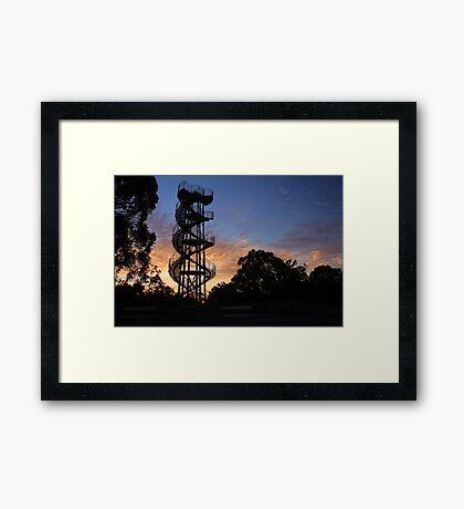 Kings Park DNA Tower At Sunset  Framed Print