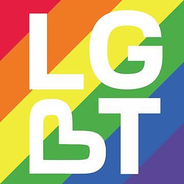Bandera del corazón minimalista LGBT - Orgullo Gay del arco iris de LGBTIQ