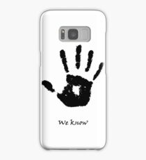 Skyrim We know Black Samsung Galaxy Case/Skin