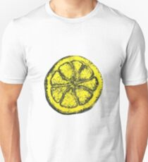 Yellow Silkscreen Lemon / The Stone Roses inspired T-Shirt