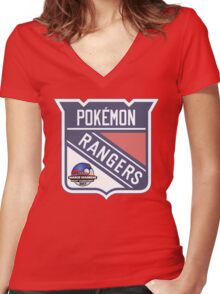 Pokemon Rangers - March Madness Edition Women's Fitted V-Neck T-Shirt