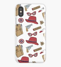 Agent Carter all over print- regular iPhone Case