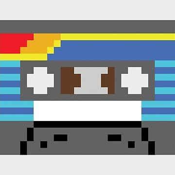 Pixel Cassette Tape by FussFreeMcGee