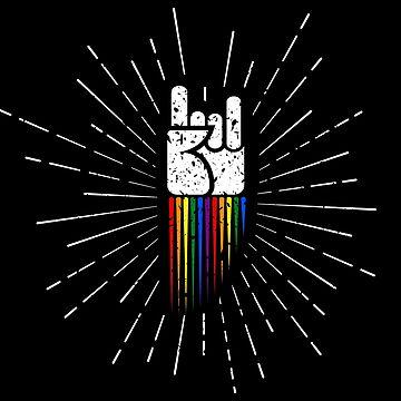 Equipo Pride Rock Equipo LGBT Cute Metal de LGBTIQ