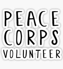 Peace Corps Volunteer Sticker