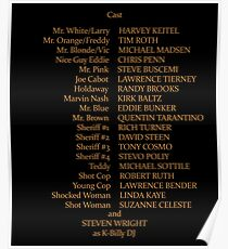 Reservoir Dogs Credits Poster