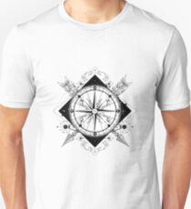 Compass and crossed arrows Unisex T-Shirt