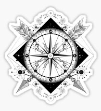 Compass and crossed arrows Sticker
