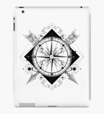 Compass and crossed arrows iPad Case/Skin
