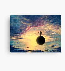 Playing For The Clouds Canvas Print
