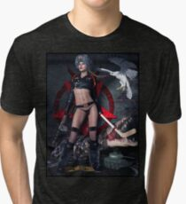 Russian Tank Witch Rusalka Tri-blend T-Shirt