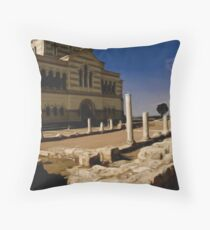 St. Vladimir Cathedral and Old Greek Temple Ruines Throw Pillow