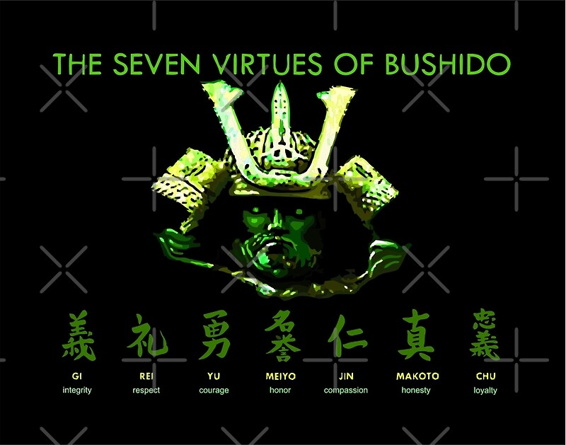 """7 Virtues of Bushido"" Posters by undersideland 