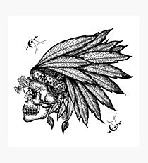 Indian skull Photographic Print