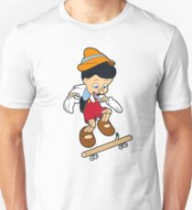 Pinocchio A Real Skater Boy  T-Shirt