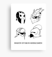 Orc's and Uruk - Hai's helmets Canvas Print