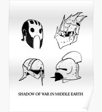 Orc's and Uruk - Hai's helmets Poster
