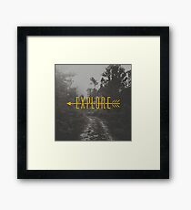 Explore (Arrow) Framed Print