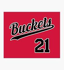 Buckets retro Script 3 Photographic Print