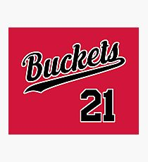 Buckets retro Script 3 Photographic Print