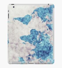 world map 52 blue iPad Case/Skin
