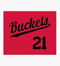 Buckets retro Script 1 Photographic Print