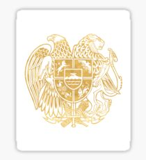ARMENIAN COAT OF ARMS - Gold Sticker