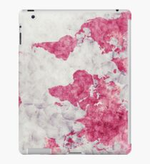 world map 53 red iPad Case/Skin