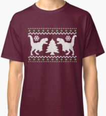 Ugly T-Rex Christmas Holiday Sweater Design Classic T-Shirt
