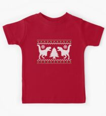 Camiseta para niños Ugly T-Rex Christmas Holiday Sweater Design