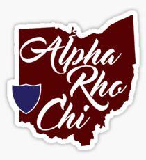 Alpha Rho Chi Ohio Sticker