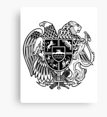 ARMENIAN COAT OF ARMS - Black Canvas Print