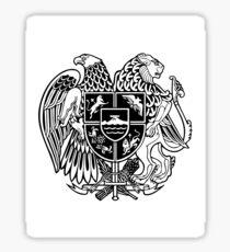 ARMENIAN COAT OF ARMS - Black Sticker