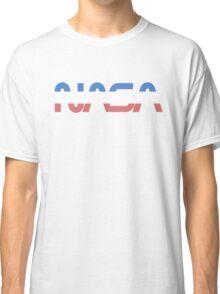 NASA Worm Retro Blue-Red-White Classic T-Shirt