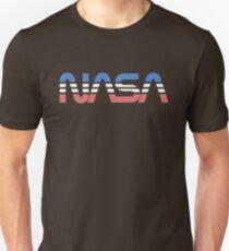 NASA Worm Retro Blue-Red-White T-Shirt