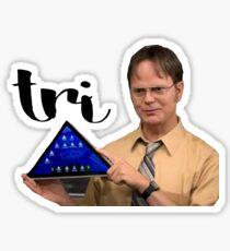 Dwight K. Schrute Tri Delta Pyramid Sticker