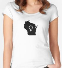 Wisconsin Women's Fitted Scoop T-Shirt